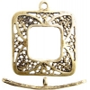 Brass Antique Toggle Square Filligree 22mm